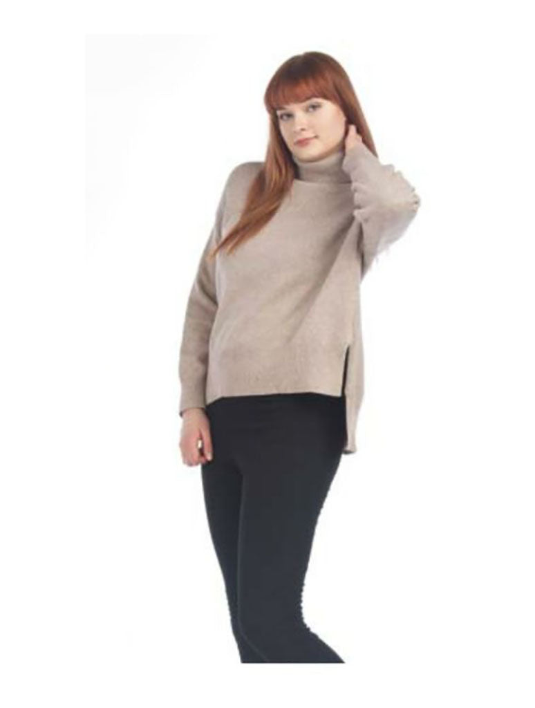 Papillon Ribbed Knit Sweater in Sand