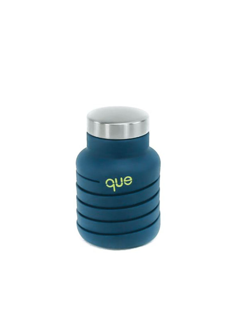 Que 12oz Collapsible Bottle in Midnight Blue