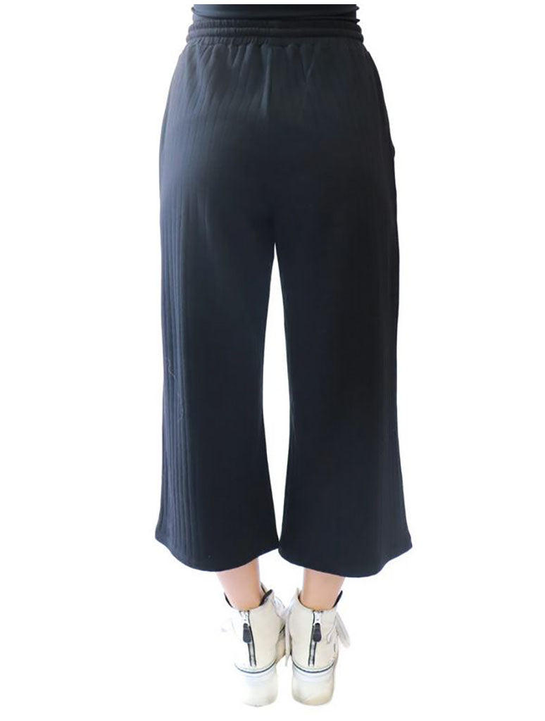 RDSTYLE Cotton Knit Pant in Black