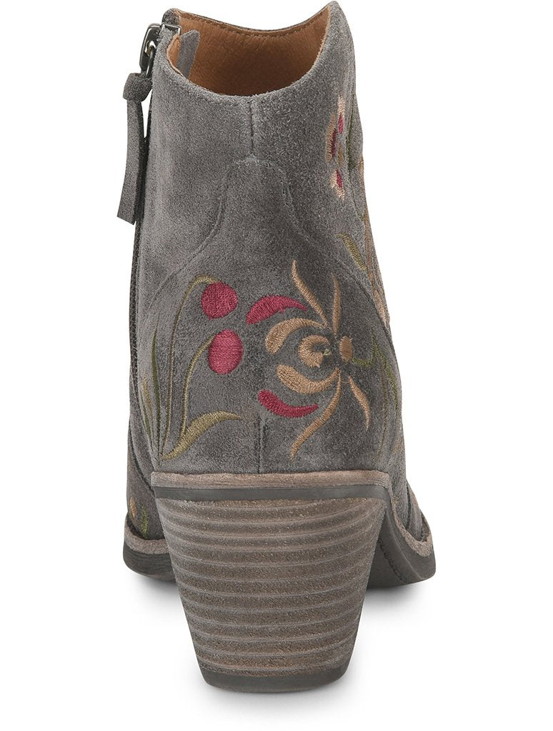 Sofft Westmont II Heeled Floral Boot in Steel Grey