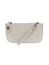 Joy Susan Sparkle Mini Crossbody/Wristlet in Light Grey