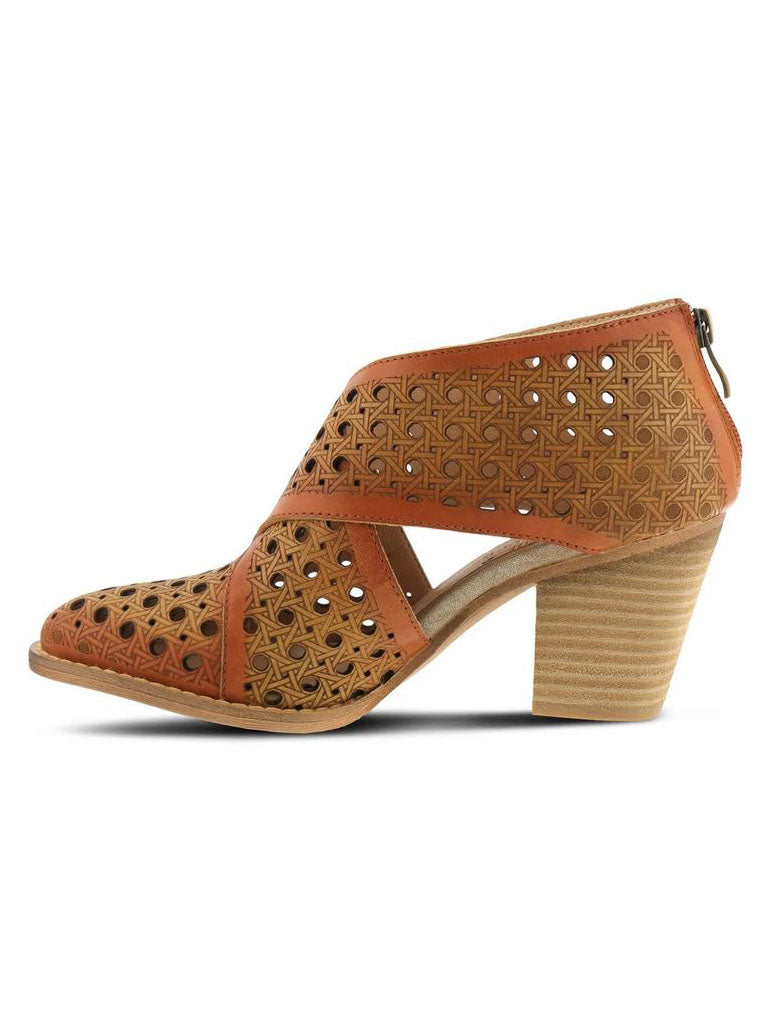 L'ARTISTE by Spring Step Ghalna Shootie in Tan