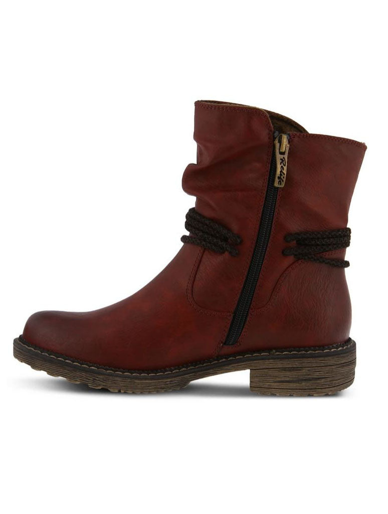 Spring Step Kathie Mid Boot in Bordeaux