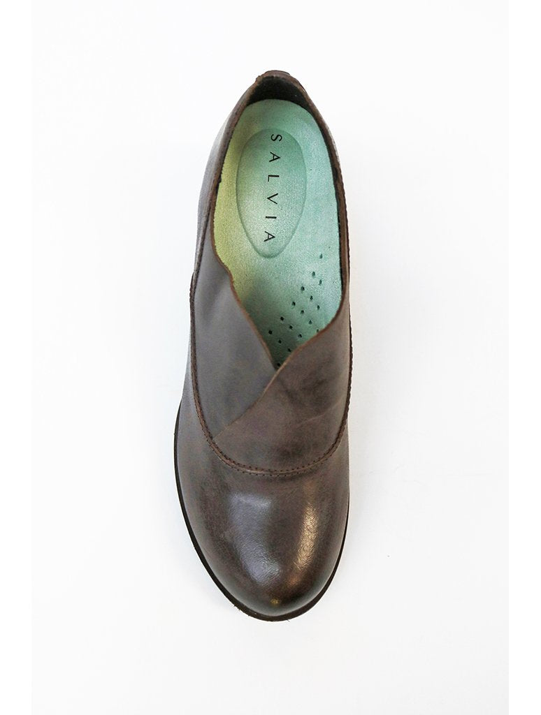 Salvia Brie Heeled Oxford Shoe in T. Moro Vintage