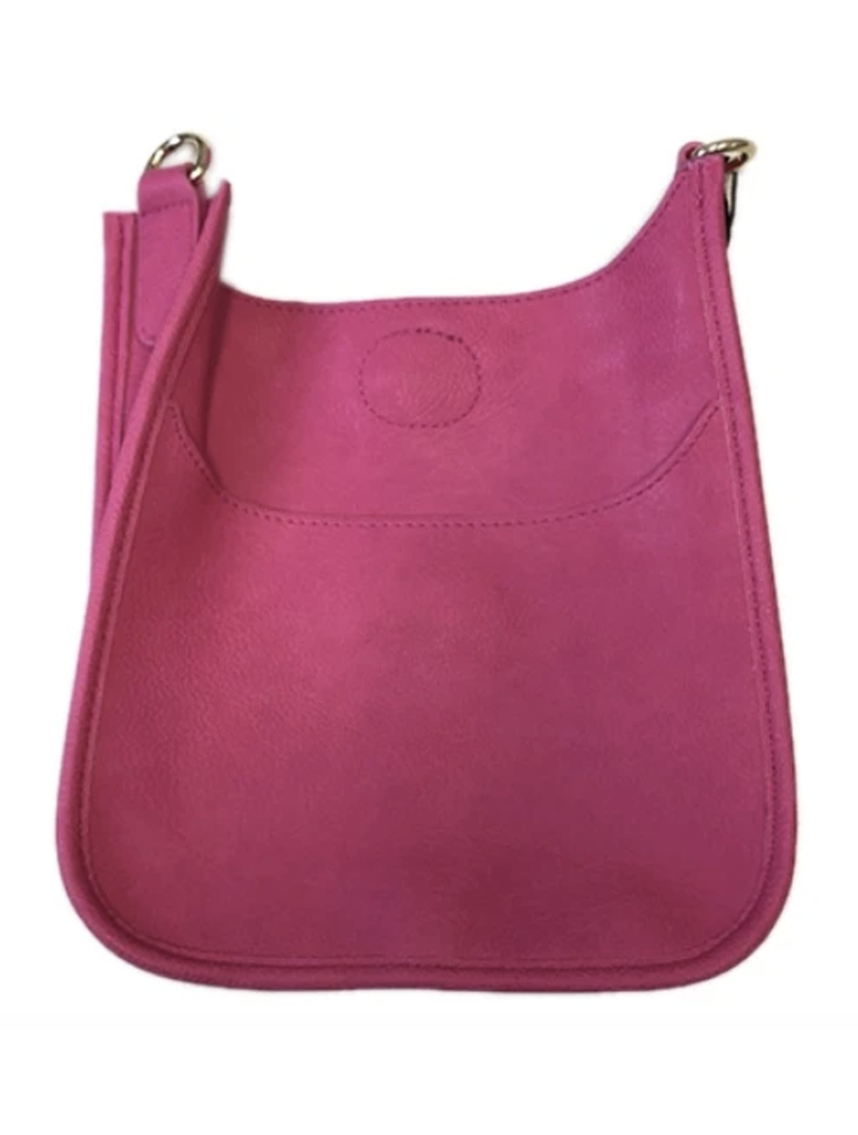 Ahdorned Mini Vegan Messenger Bag in Pink - No Strap