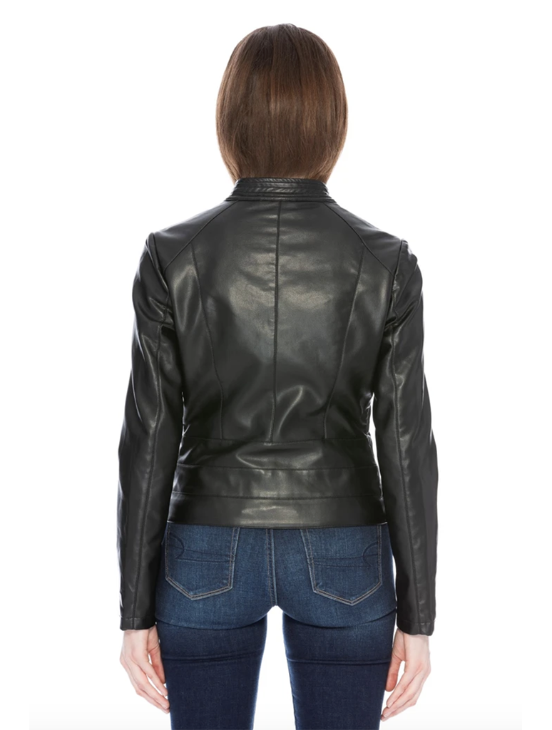 Coalition LA Leather Moto Jacket in Black