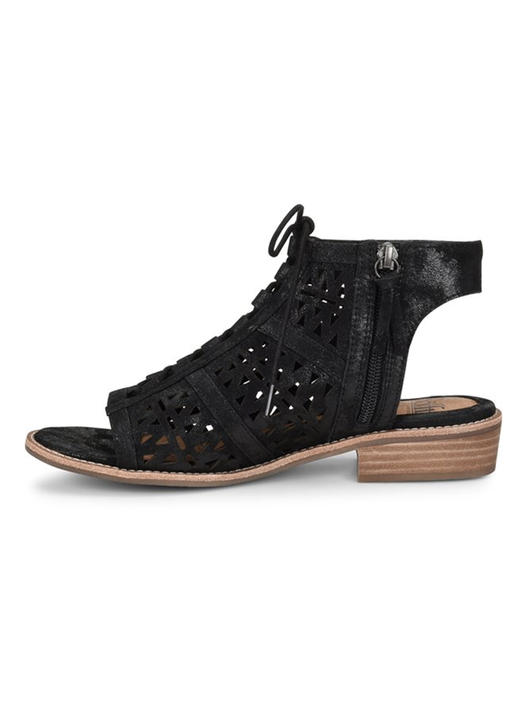 Sofft Nora Lace Up Covered Sandal in Black