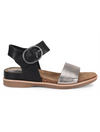 Sofft Bali Buckle Flat Sandal in Black/Anthracite
