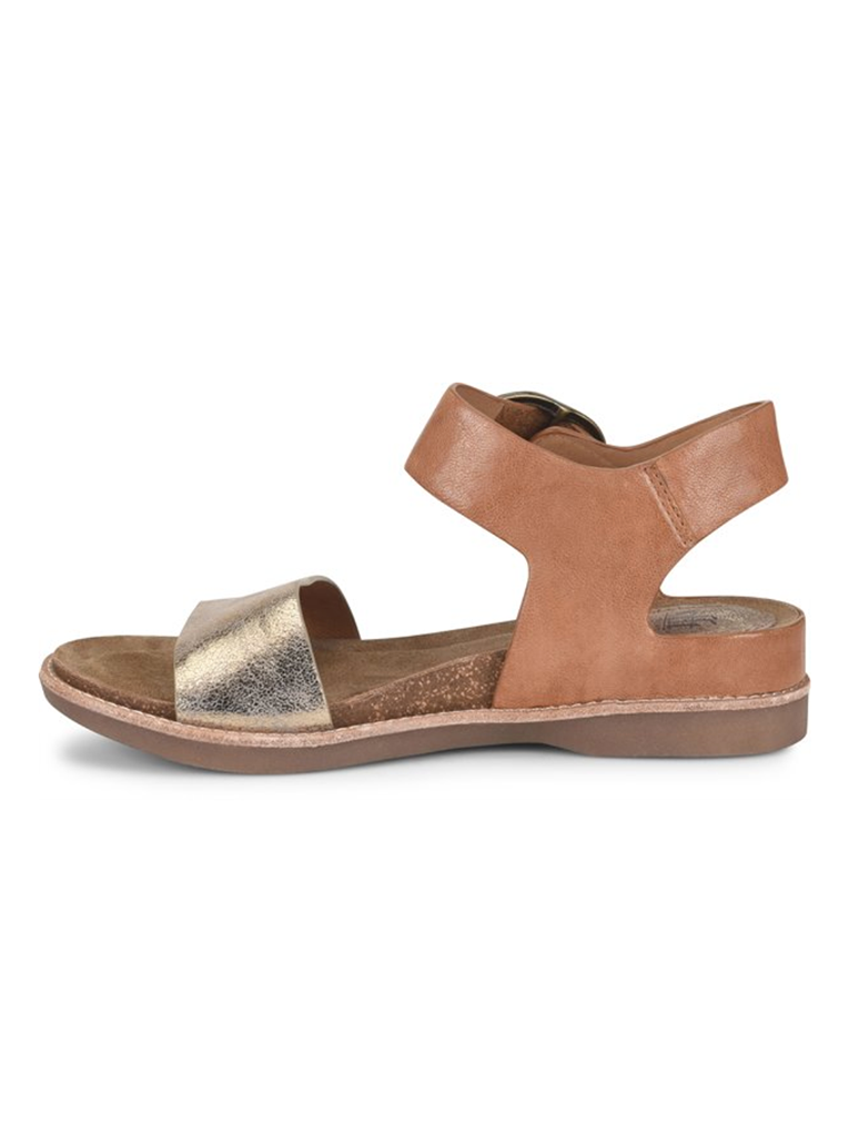 Sofft Bali Buckle Flat Sandal in Luggage