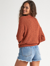 Billabong Sweet Bliss Wrap Sweater in Henna