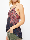 Free People Way You Walk Printed Cami in Turquiose