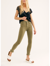 Mystree Stripe Crop Pants in Olive