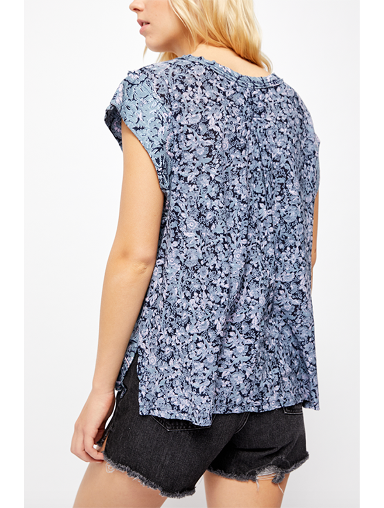 Free People High Tide Tee in Blue