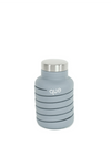 Que Collapsible Silicone 20oz Travel Water Bottle in Stone Grey