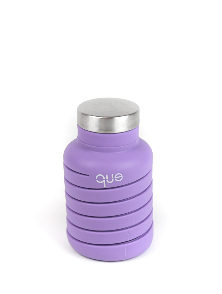 Que Collapsible Silicone 20oz Travel Water Bottle in Violet