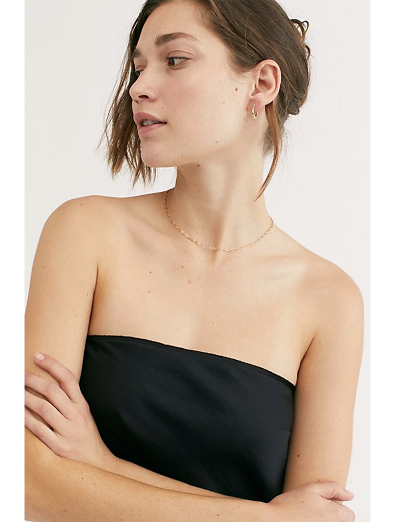 Free People Take You Anywhere Tube Top in Black