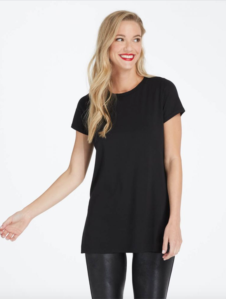 Spanx Perfect Tee Shirt in Black