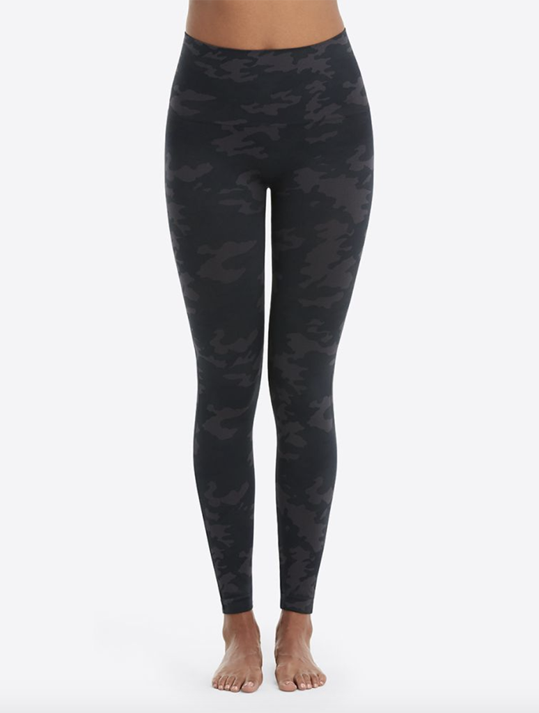 Spanx Seamless Leggings in Black Camo