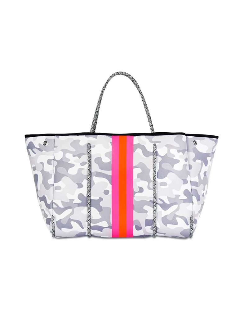 Haute Shore Greyson Rise Neoprene Tote in Grey Camo