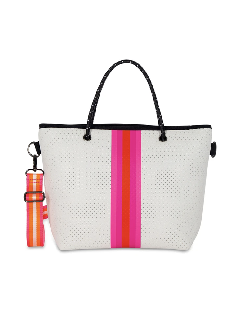 Haute Shore Ryan Pip Neoprene Mini Tote in White