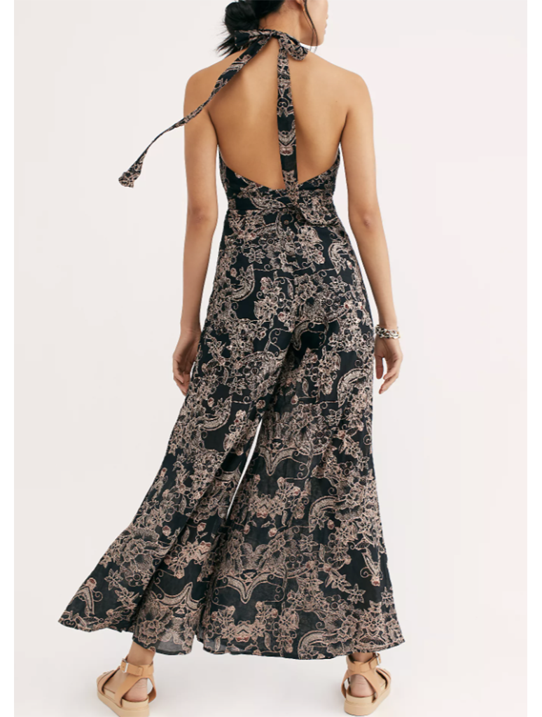 Free People Kissing Sunlight Jumpsuit in Black