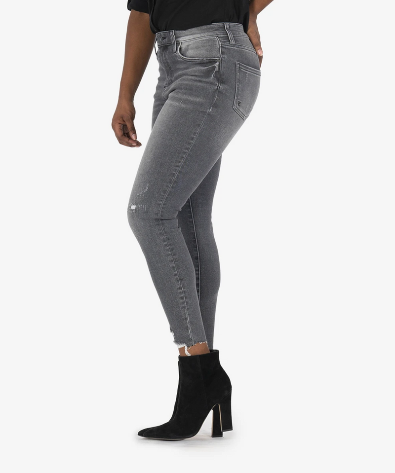 Kut Connie Hi Rise Ankle Jean in Braver Grey Wash