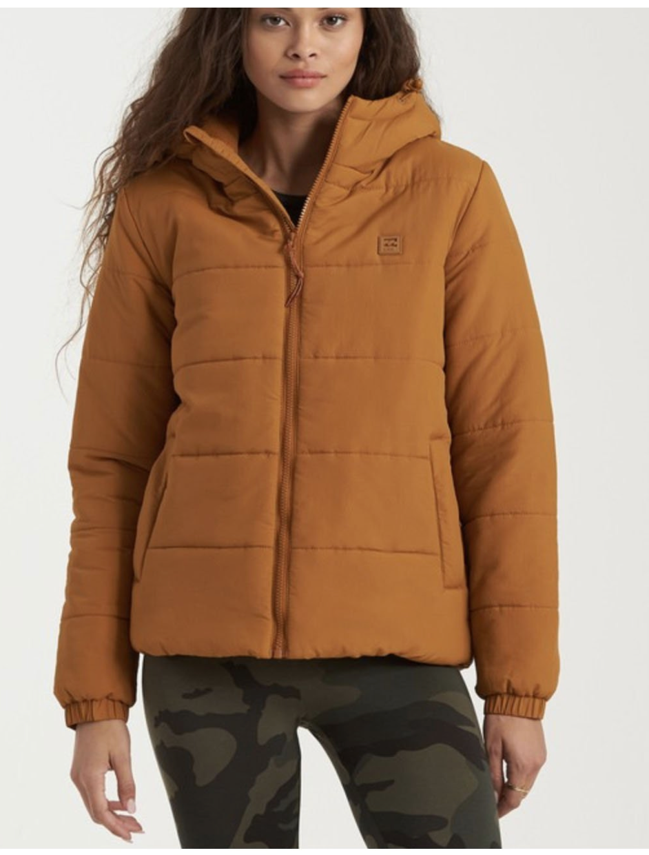 Billabong Transport Puffer Jacket in Inca Gold
