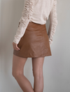 Free People Fake Out Skirt in Walnut