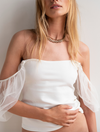 Free People Puff Sleeve Cami in Ivory
