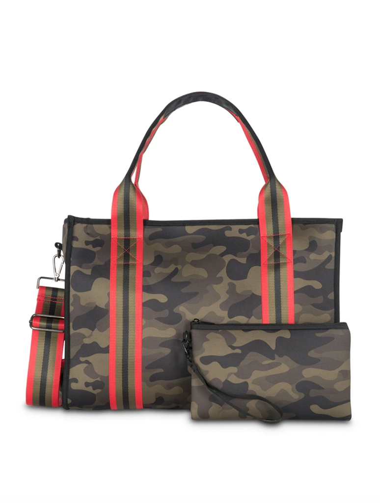 Haute Shore Isla Soho Book Tote in Green Camo