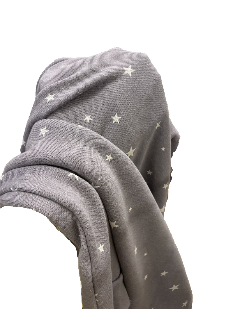 Alternative Apparel Pullover Hoodie in Grey Stars