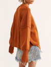 Free People Easy Street Sweater Tunic in Copper