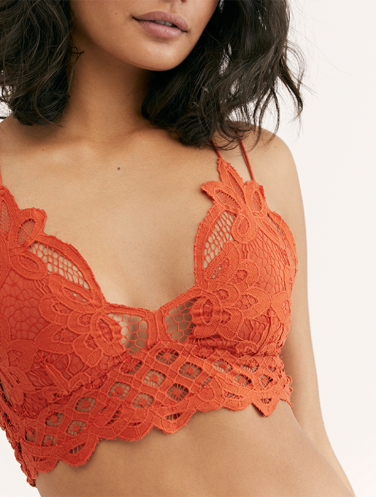 Free People Adella Bralette in Burnt Orange