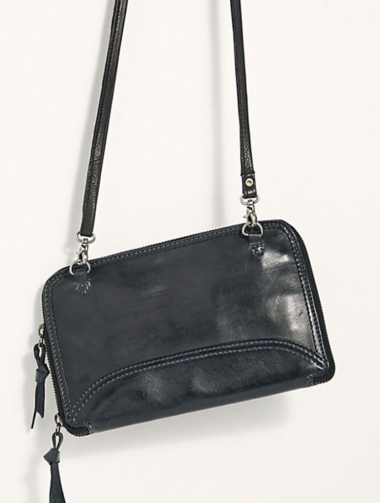 Free People Traveler Wallet Crossbody Bag in Black