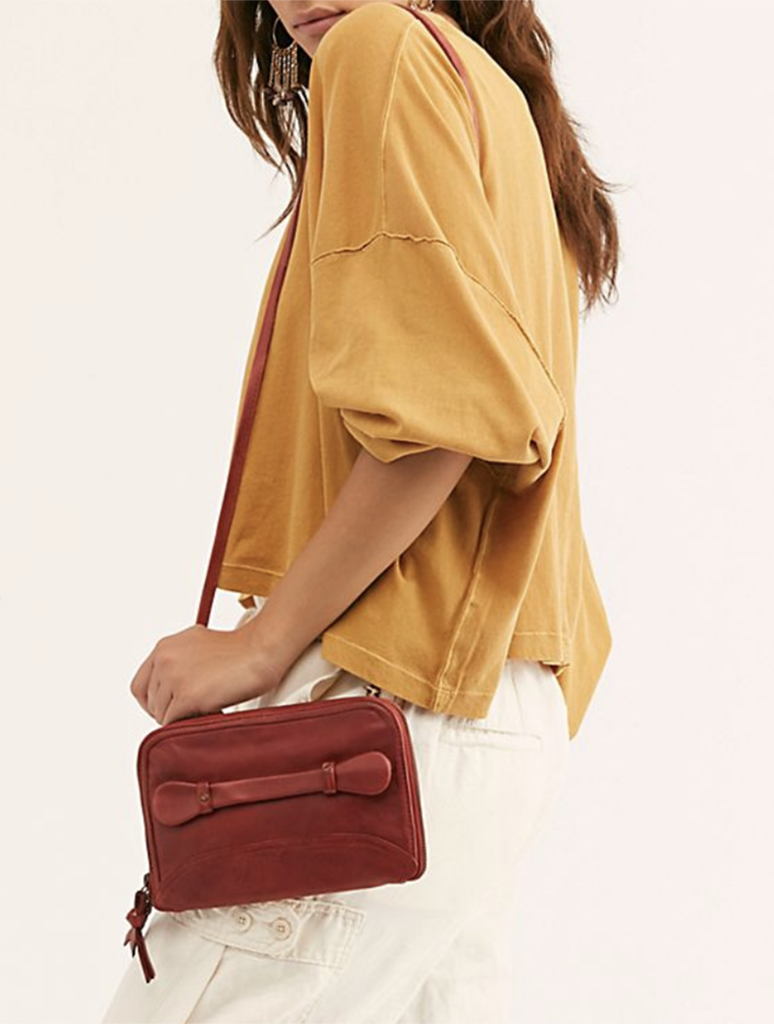 Free People Traveler Wallet Crossbody Bag in Red