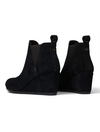 TOMS Kelsey Slip On Wedge Boot in Black