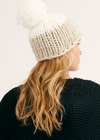 Free People Cozy Up Hat in Ivory