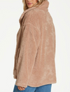 Billabong Cozy Days Fleece Sherpa Jacket in Warm Sand