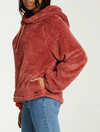 Billabong Warm Regards Sherpa Fleece Hoodie in Stone Rose