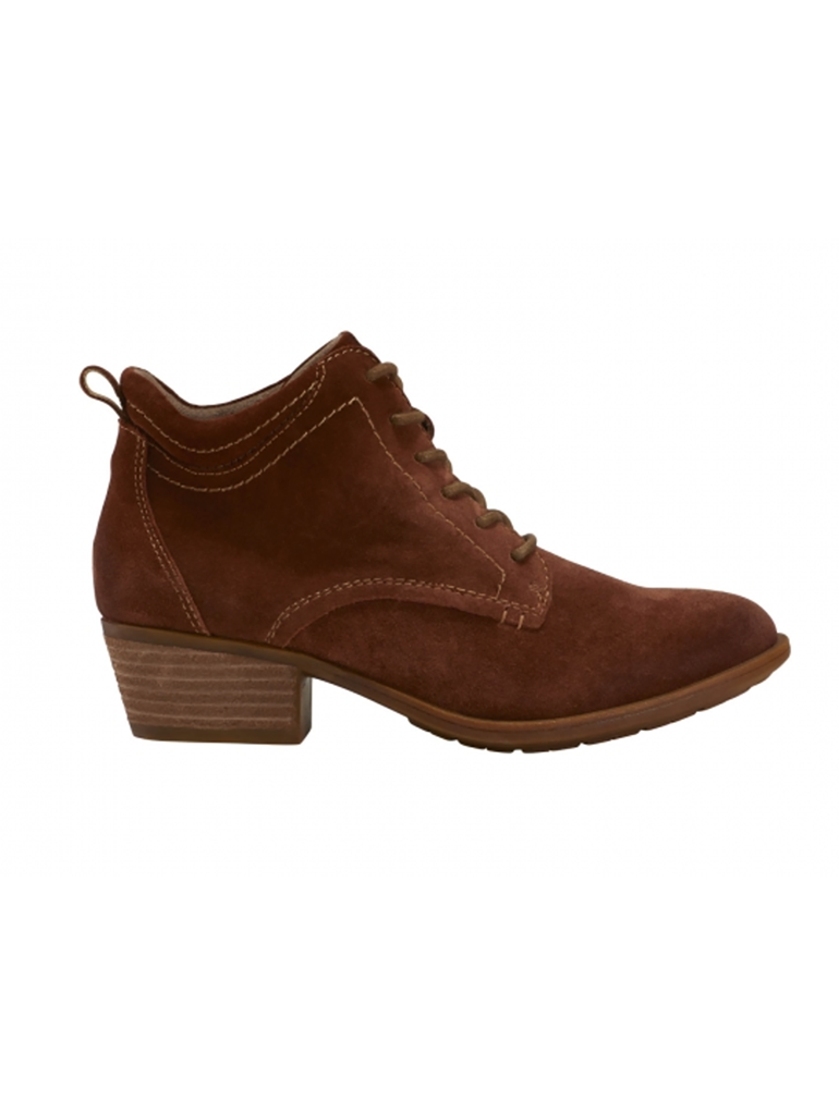 Earth Shoes Peak Provo Perforated Lace Front Bootie in Tobacco