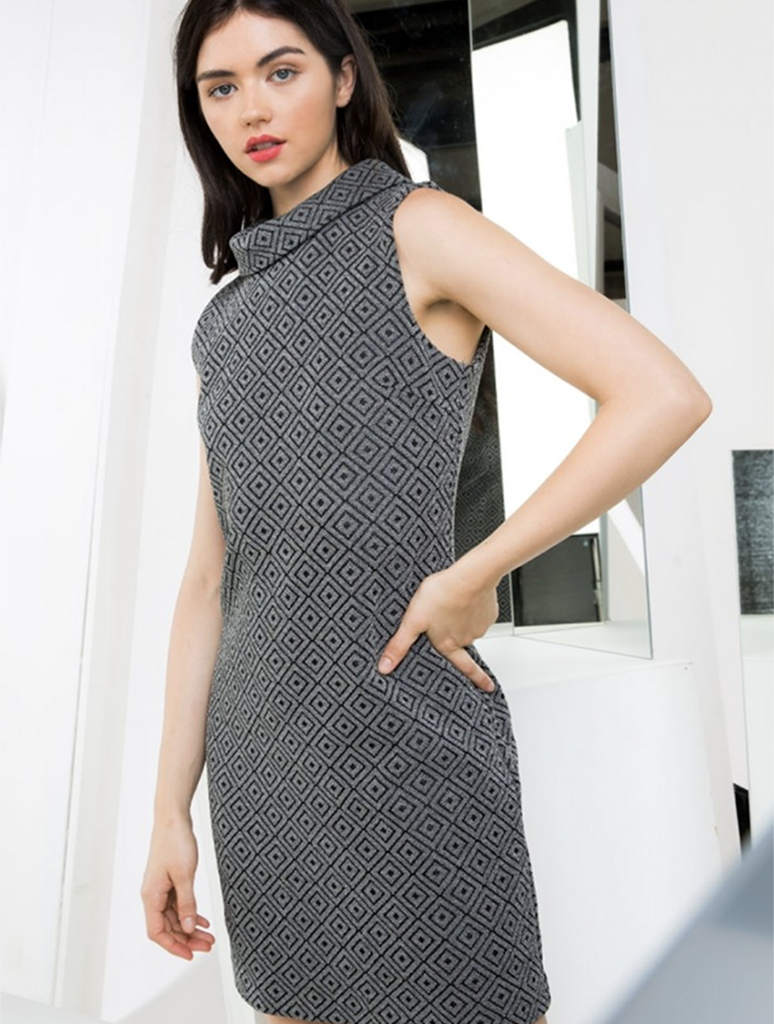 THML Sleeveless Knit Tank Dress in Black