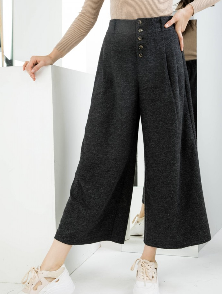 THML Wide Leg Flare Pants in Black