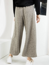 THML Wide Leg Flare Pants in Taupe