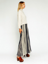 Olivaceous Flowy Pant in Cream/Navy
