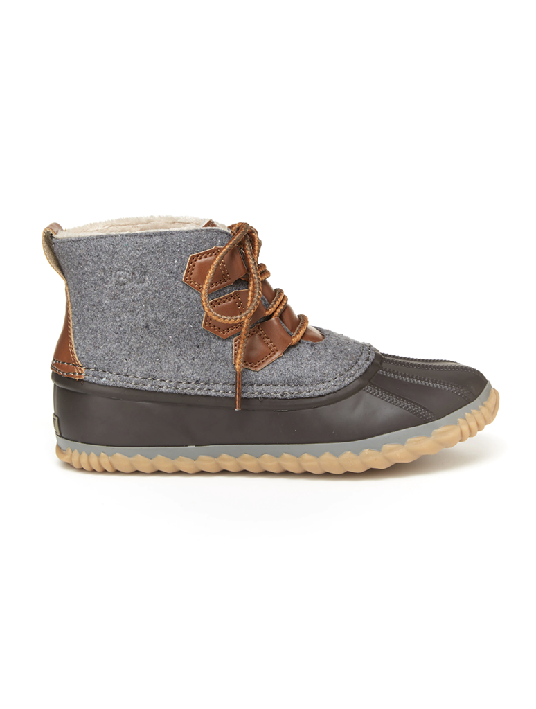 JBU by Jambu Nala Lace Up Winter Boot in Grey/Brown