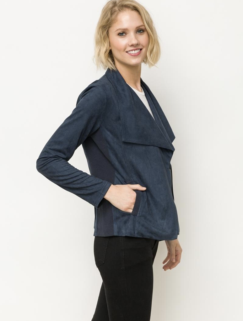 Mystree Rider Moto Jacket in Navy