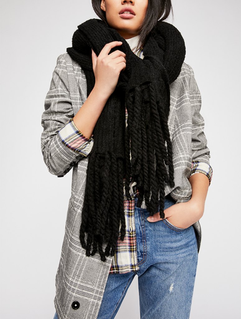 Free People Jaden Scarf in Black
