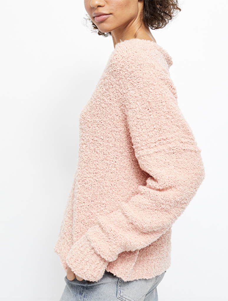 Free People Finders Keepers Sweater in Peach