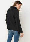 Mystree Dolman Turtle Neck in Charcoal