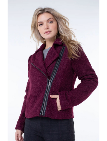 Woven Heart Fur Cardigan in Black
